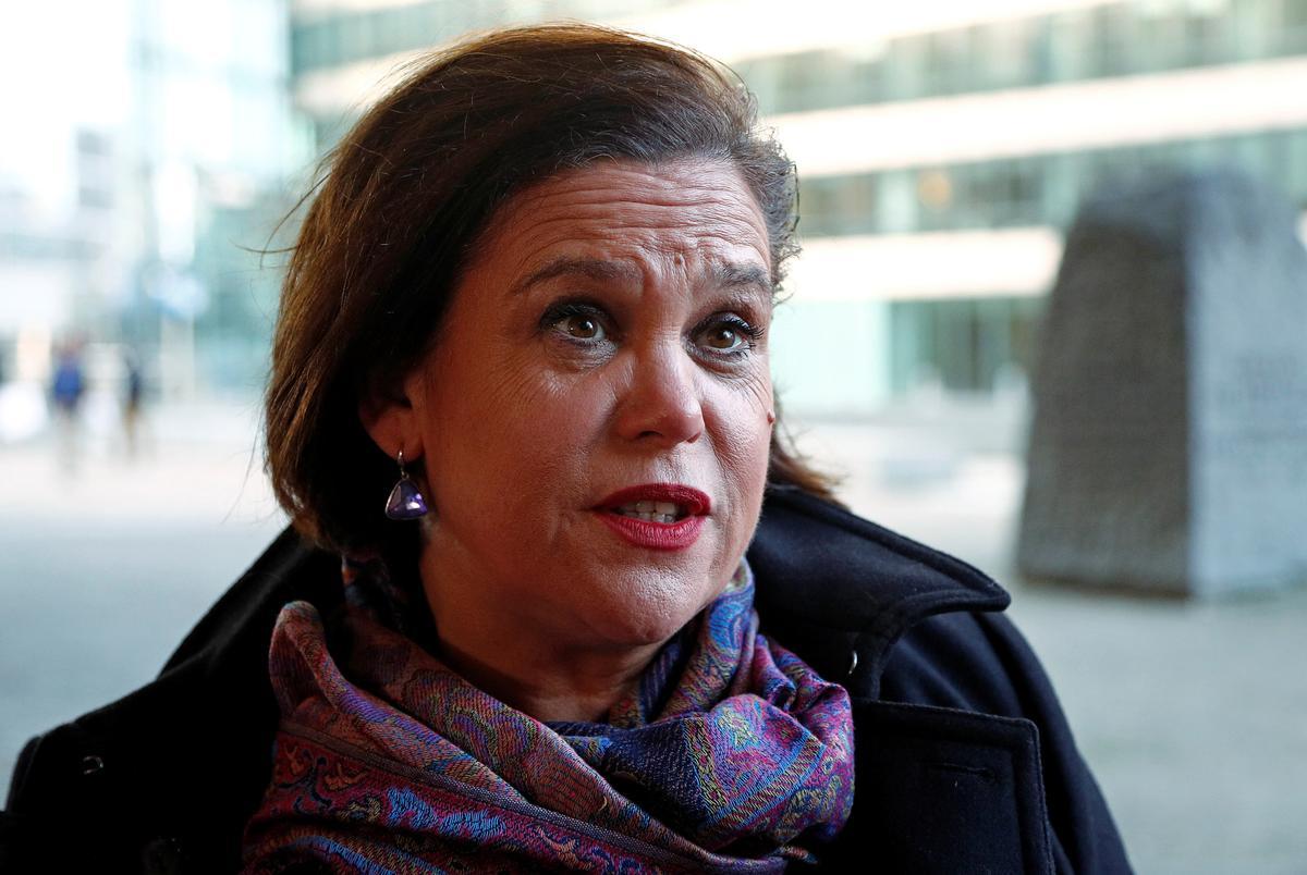 Sinn Féin-president verwerp die Britse plan vir doeane-sentrums
