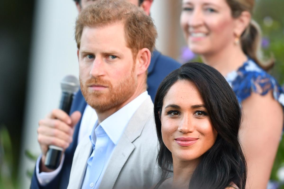 Brittanje se prins Harry en vrou Meghan besoek die Suid-Afrikaanse township