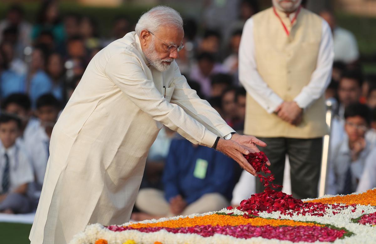Indië vier die 150ste verjaardag van Mahatma Gandhi