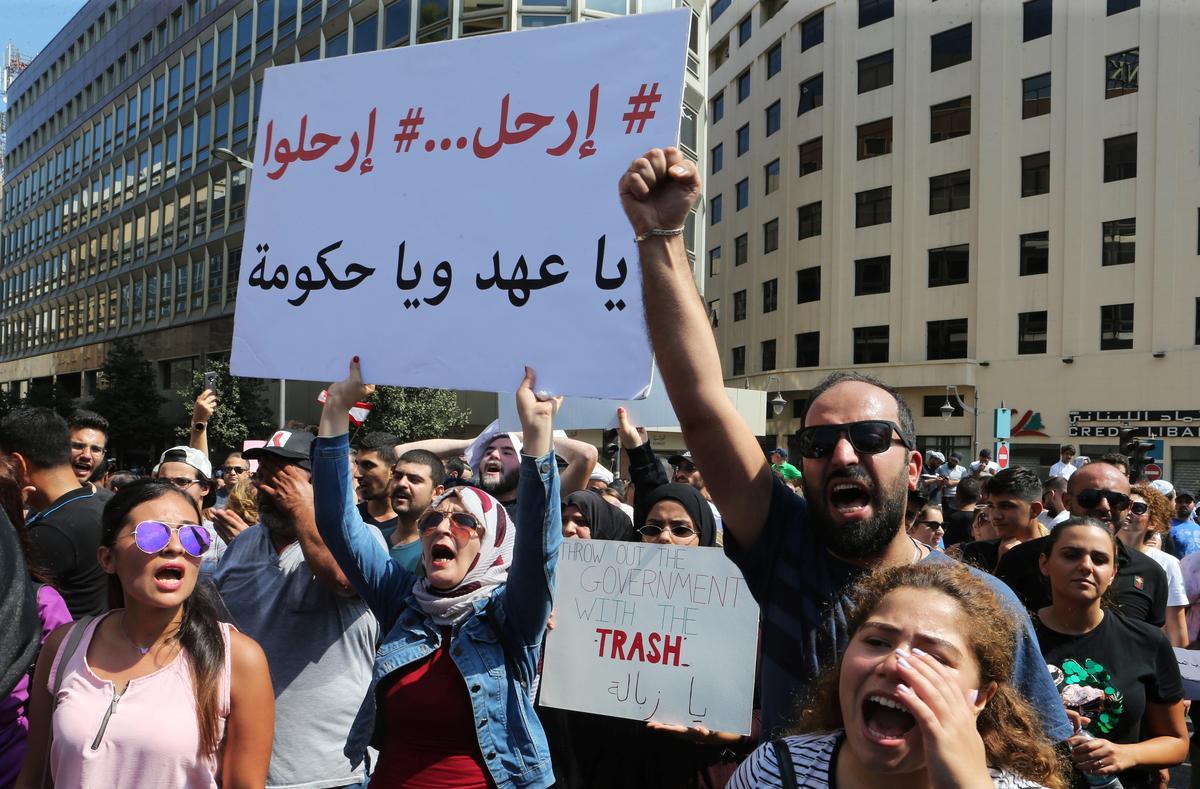 Terwyl hervormings in Libanon stadig gaan, dui protesoptogte op groter woede