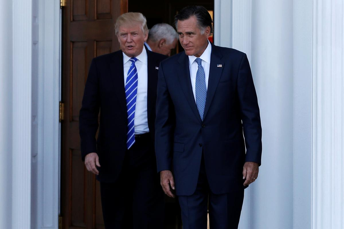 Et tu, Mitt? Trump blasts Republican senator as impeachment battle heats up