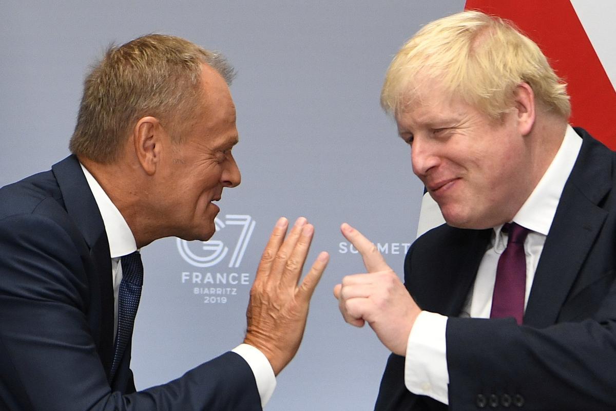 EU se Tusk aan Boris Johnson: 'Waarheen is jy op pad?'