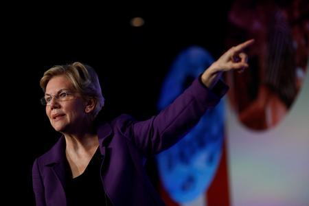 U.S. presidential candidate Warren attacks Facebook's political ad policies