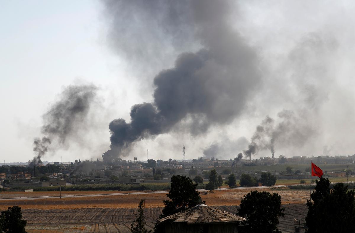 Thousands flee, dozens killed in Turkish offensive on U.S.-allied Kurds in Syria