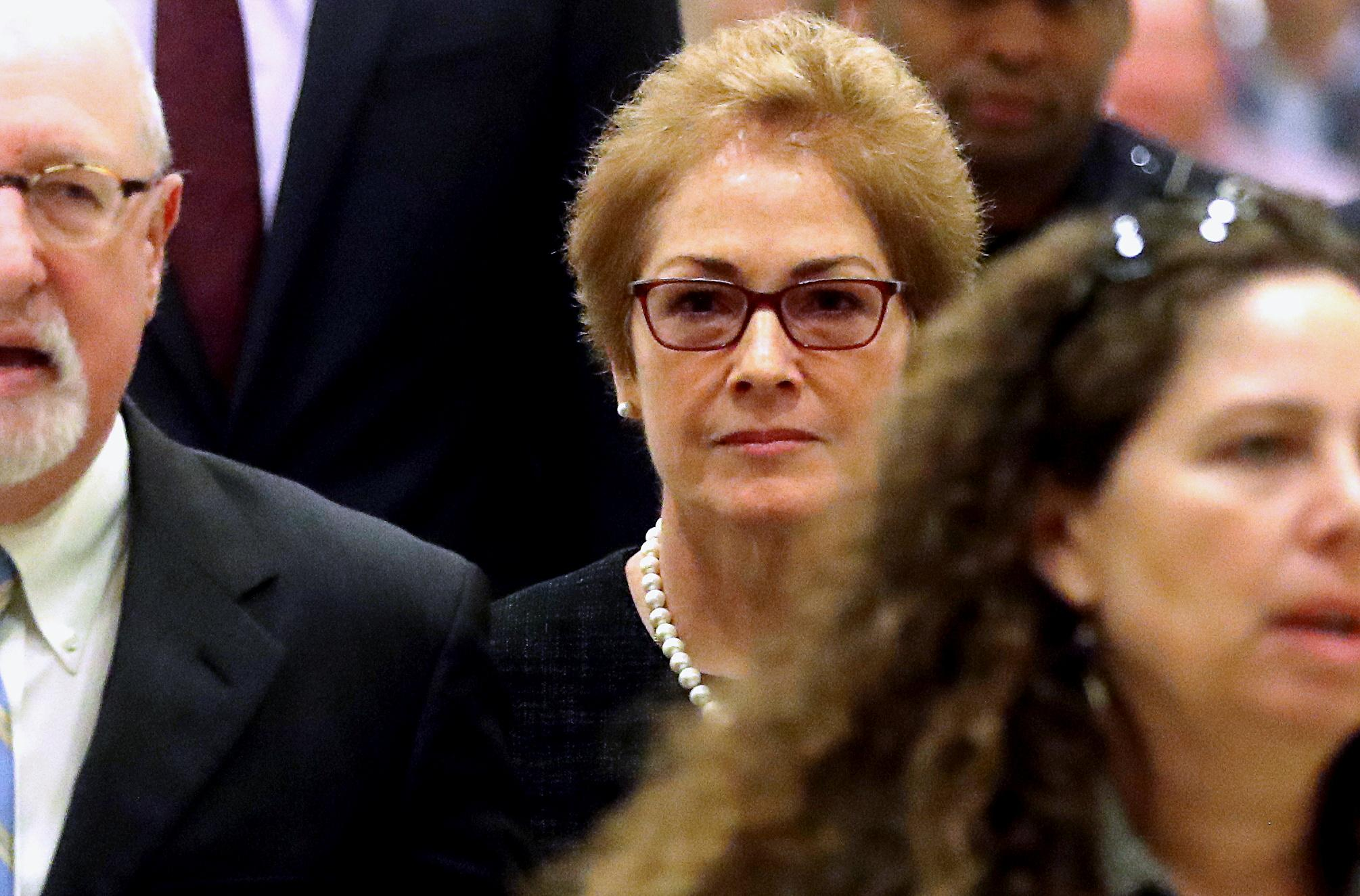 Ex-envoy tells impeachment inquiry Trump ousted her based on 'false...