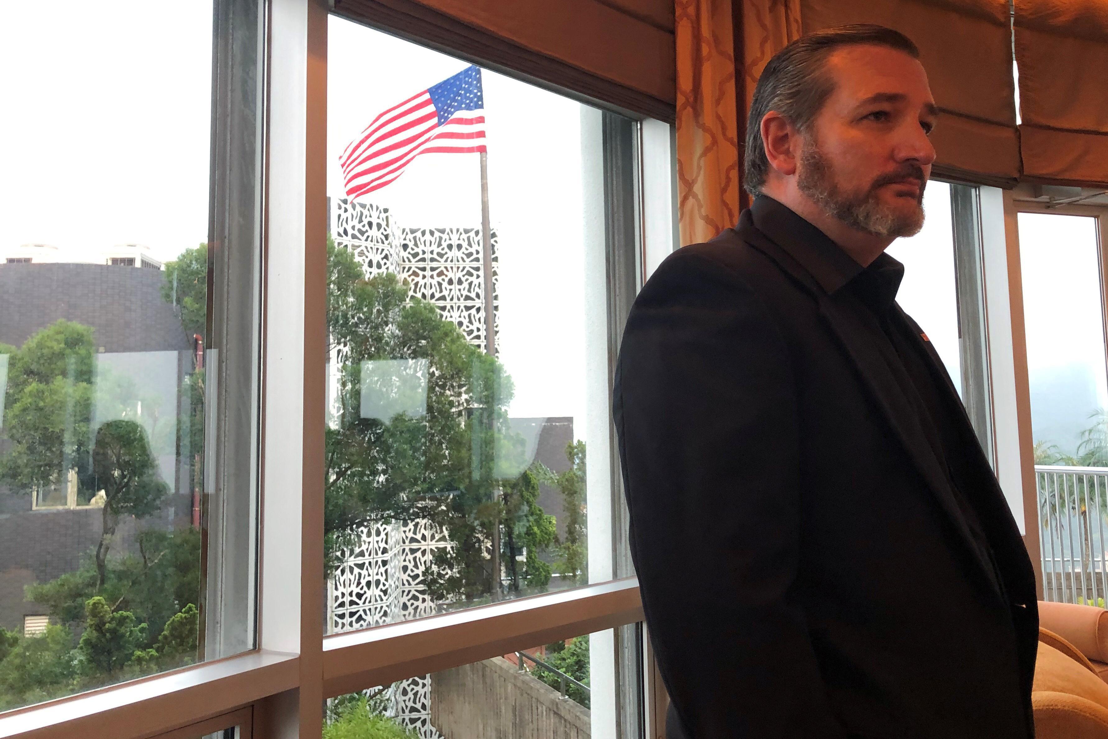 HK leader ditches meeting Ted Cruz, says the U.S. senator