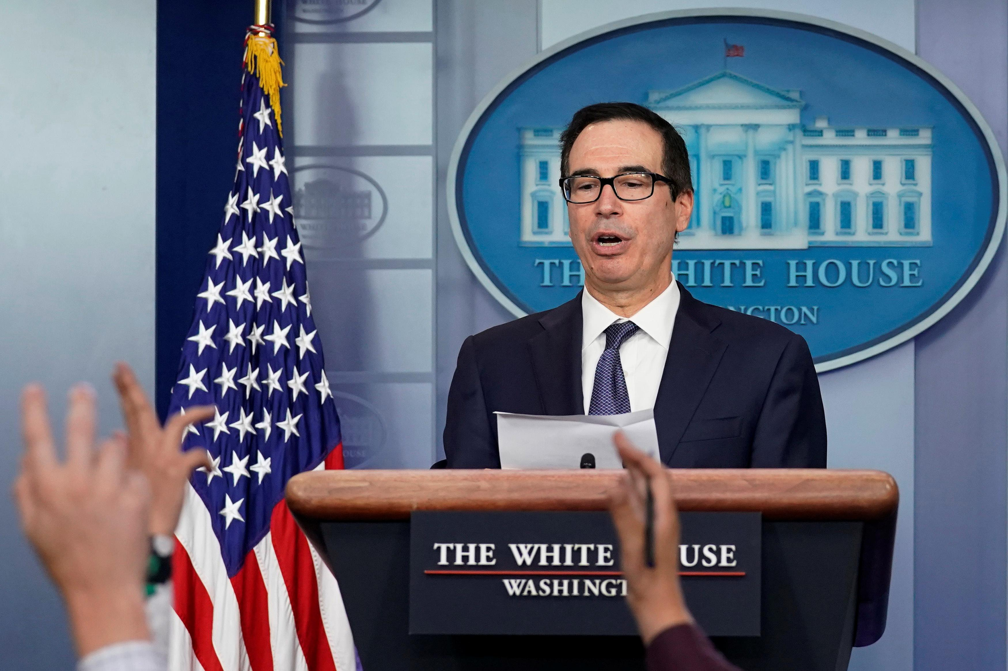 U.S., Chinese teams working on Phase 1 trade deal text: Mnuchin