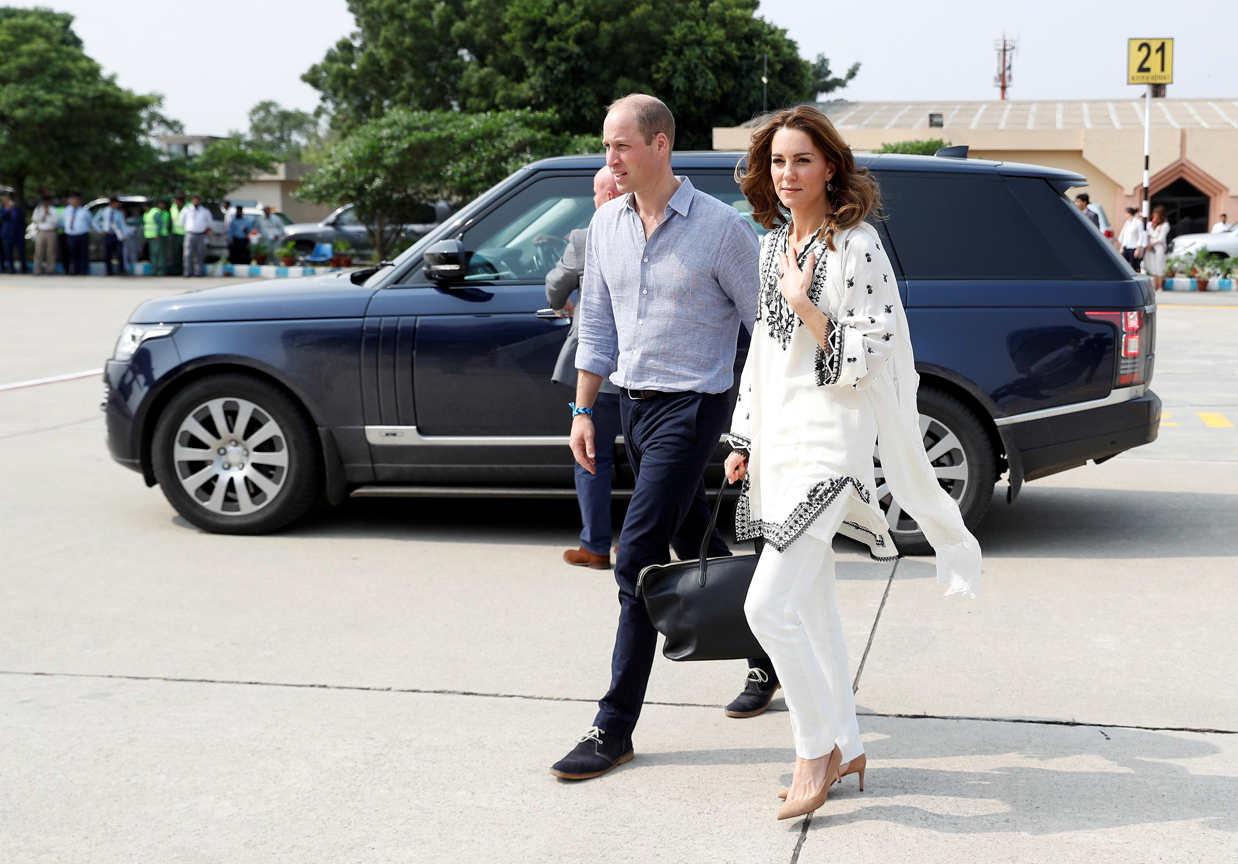 Prince William and wife Kate land in Pakistan capital after aborted...