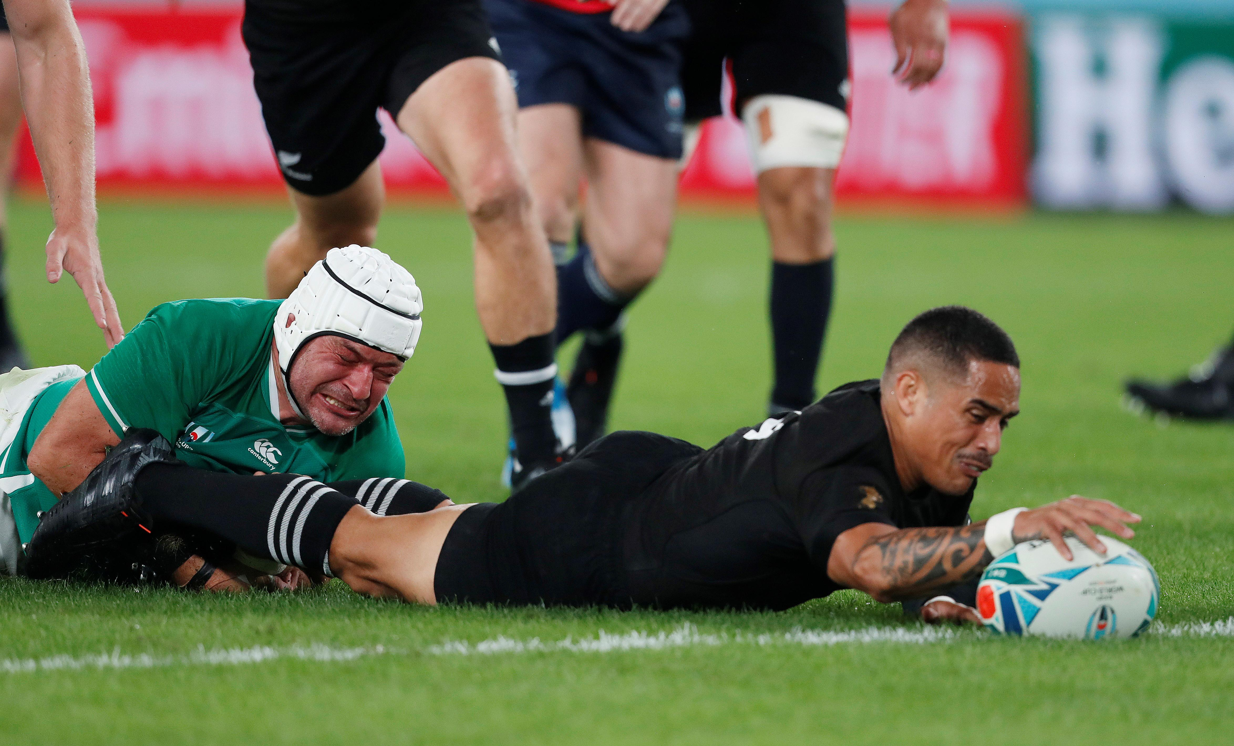Seven-try All Blacks outclass Ireland to reach World Cup semis