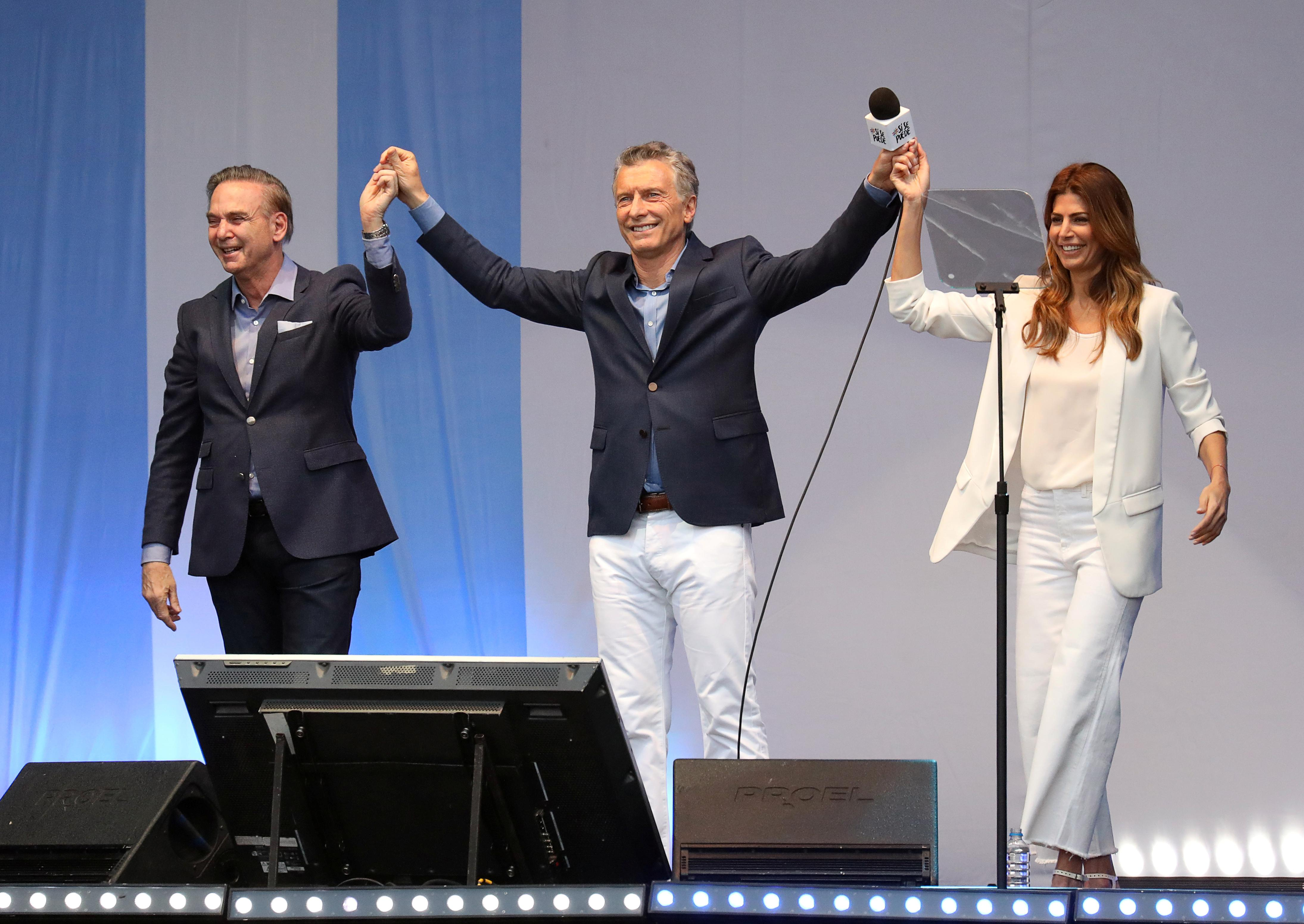 Argentina's Macri appeals to 'angry' voters at massive Buenos Aires...