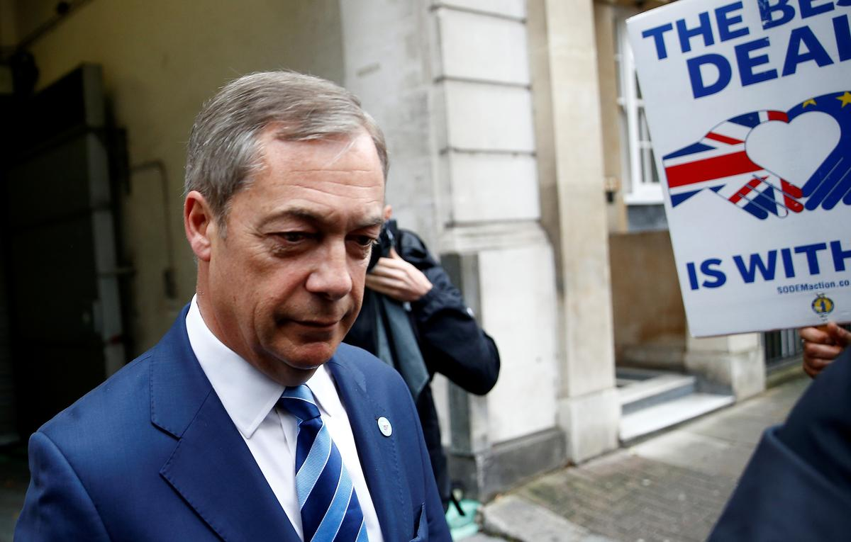 Brexit delay and election better than PM Johnson's deal: Farage