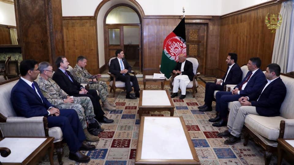 Pentagon chief in Afghanistan as U.S. looks to kickstart Taliban talks