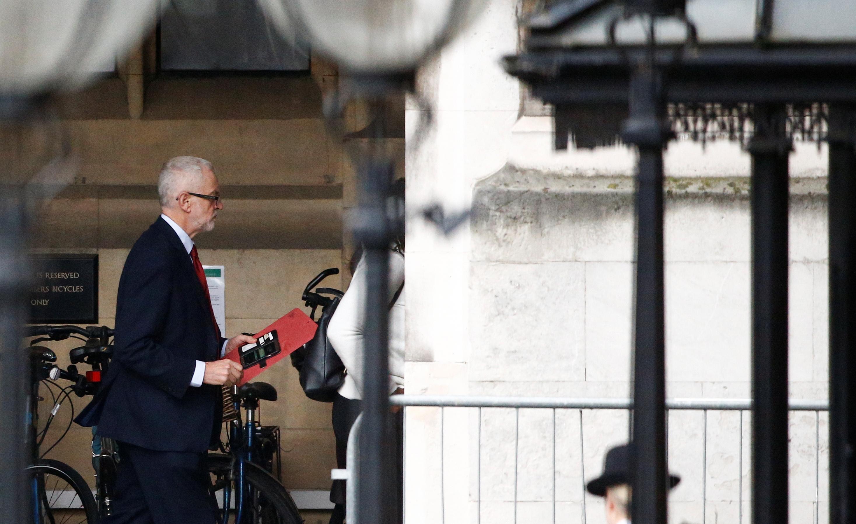 UK's Corbyn mocks PM Johnson for sending Brexit delay letter