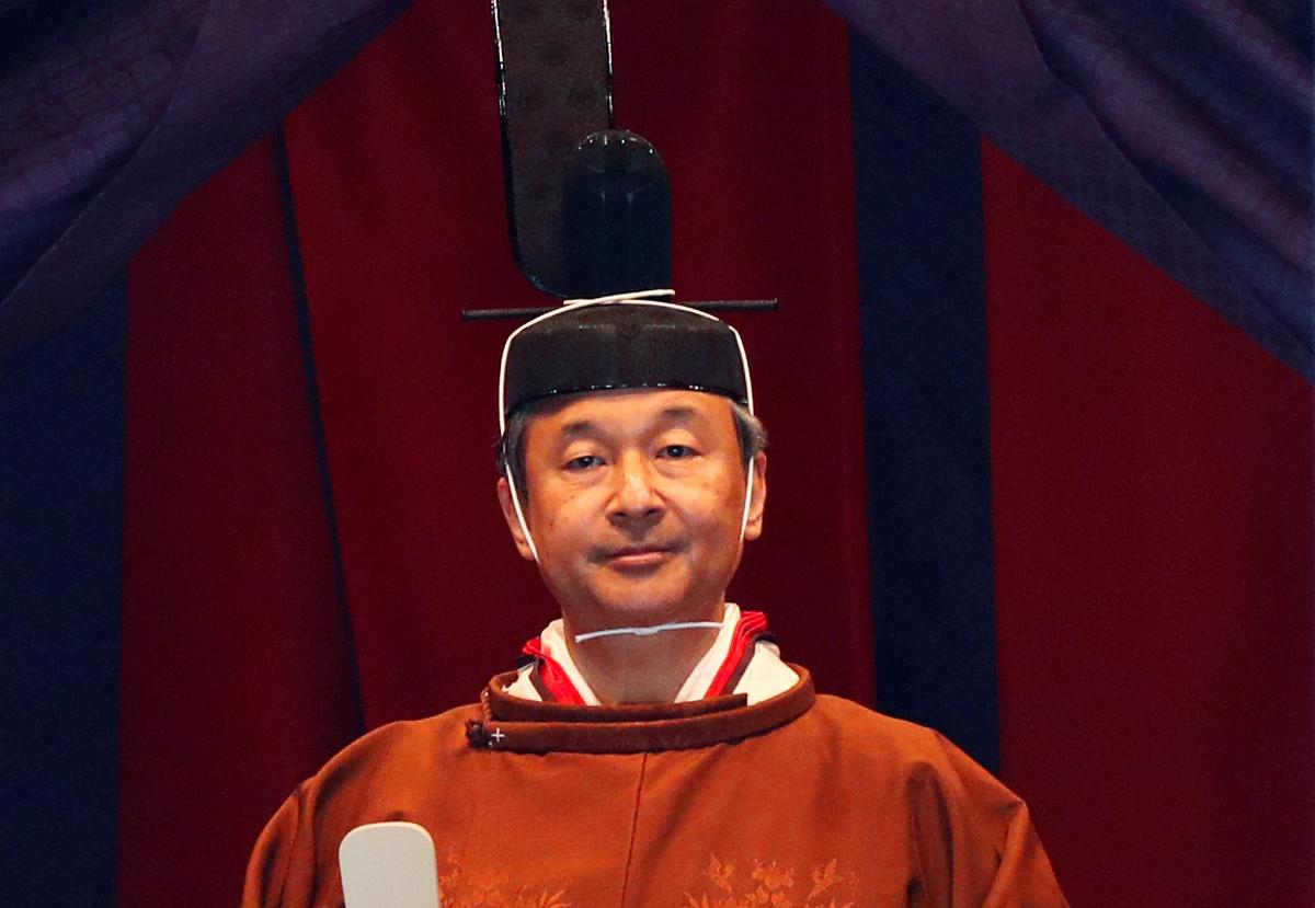 Japanese Emperor Naruhito pledges to fulfill duty at enthronement ceremony