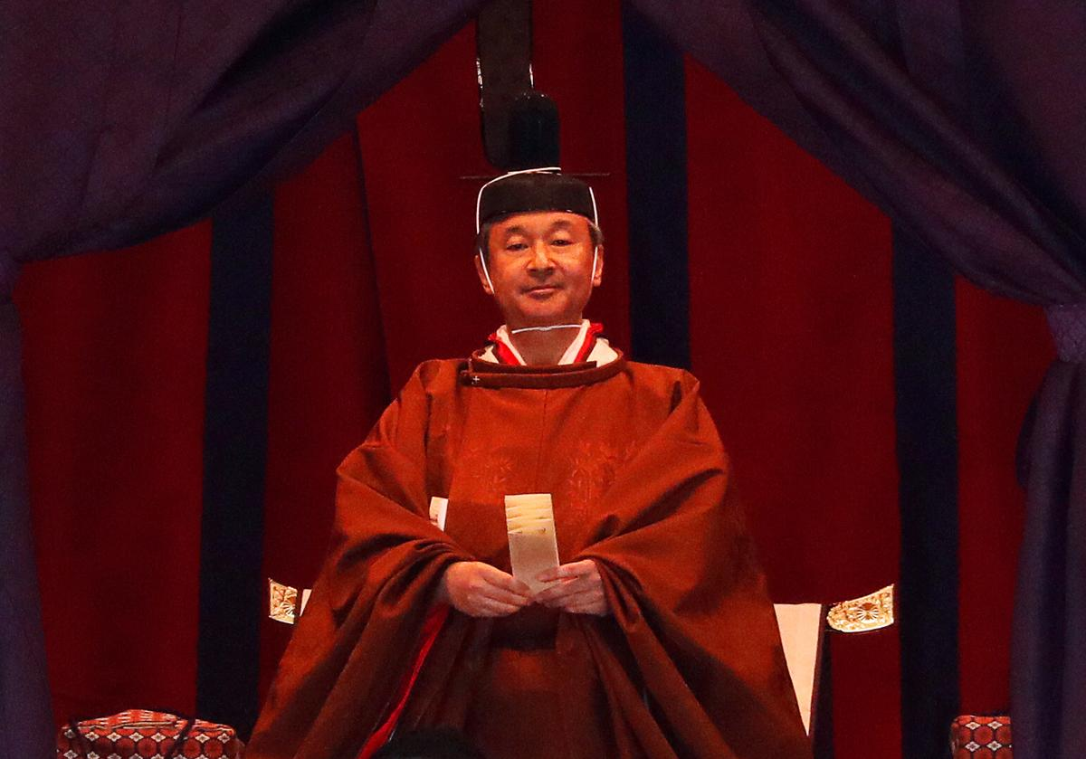 Japanese emperor publicly proclaims his enthronement in centuries-old ceremony