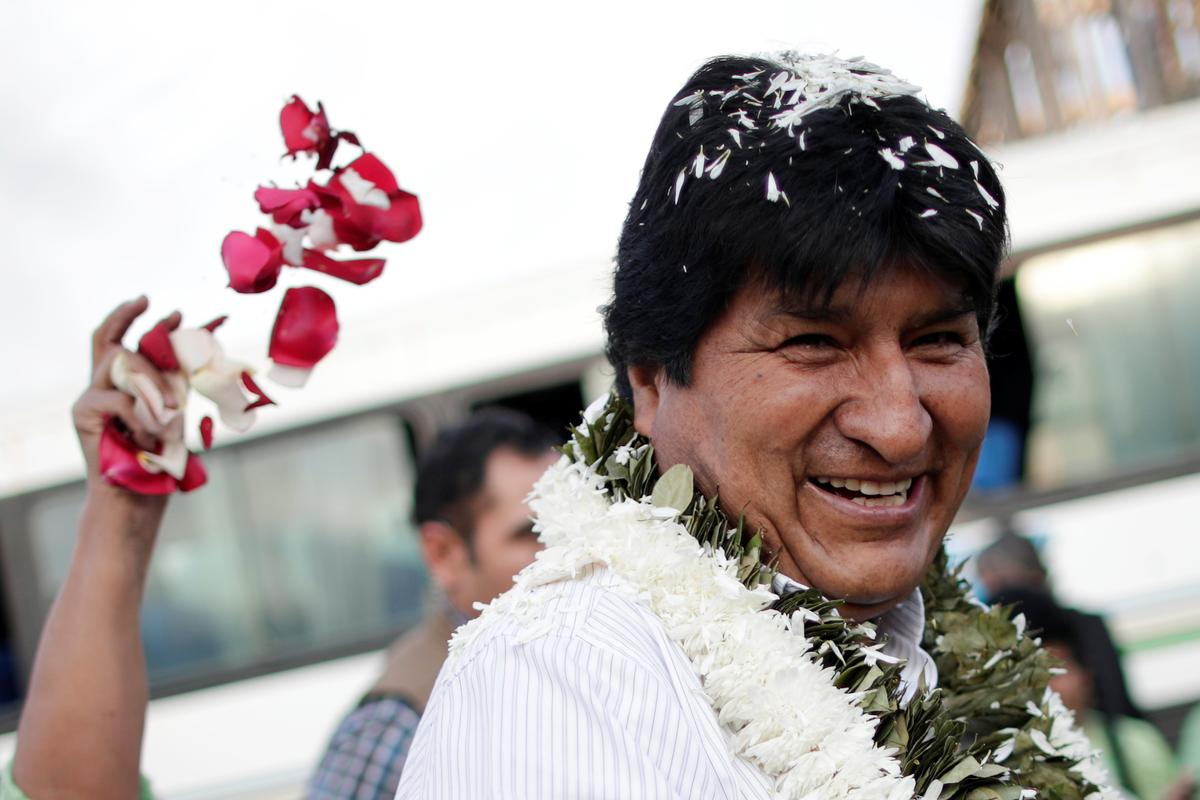 Bolivia's Morales blasts opposition 'coup' amid election standoff