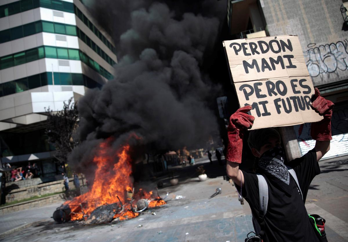 Chile's response to Pinera's reforms: A strike and more protests