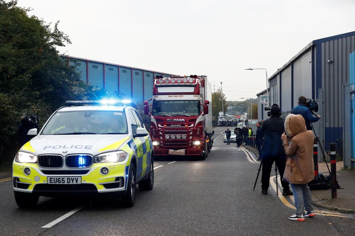 China confirms reports that 39 dead in truck in U.K. are Chinese: Global Times