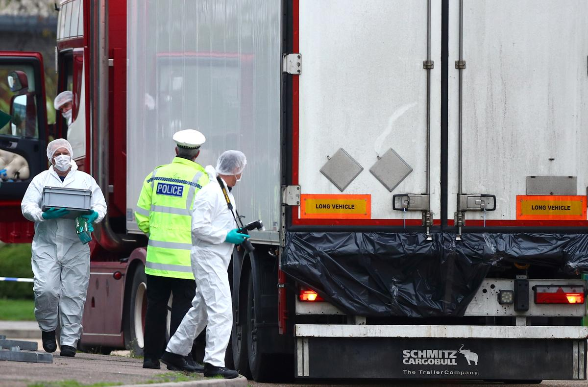 UK police say 39 people found dead in truck near London were Chinese