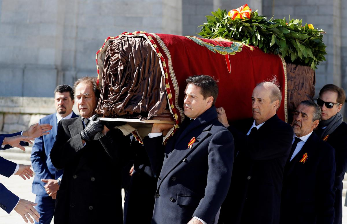 Spanish dictator Franco's remains exhumed from state mausoleum