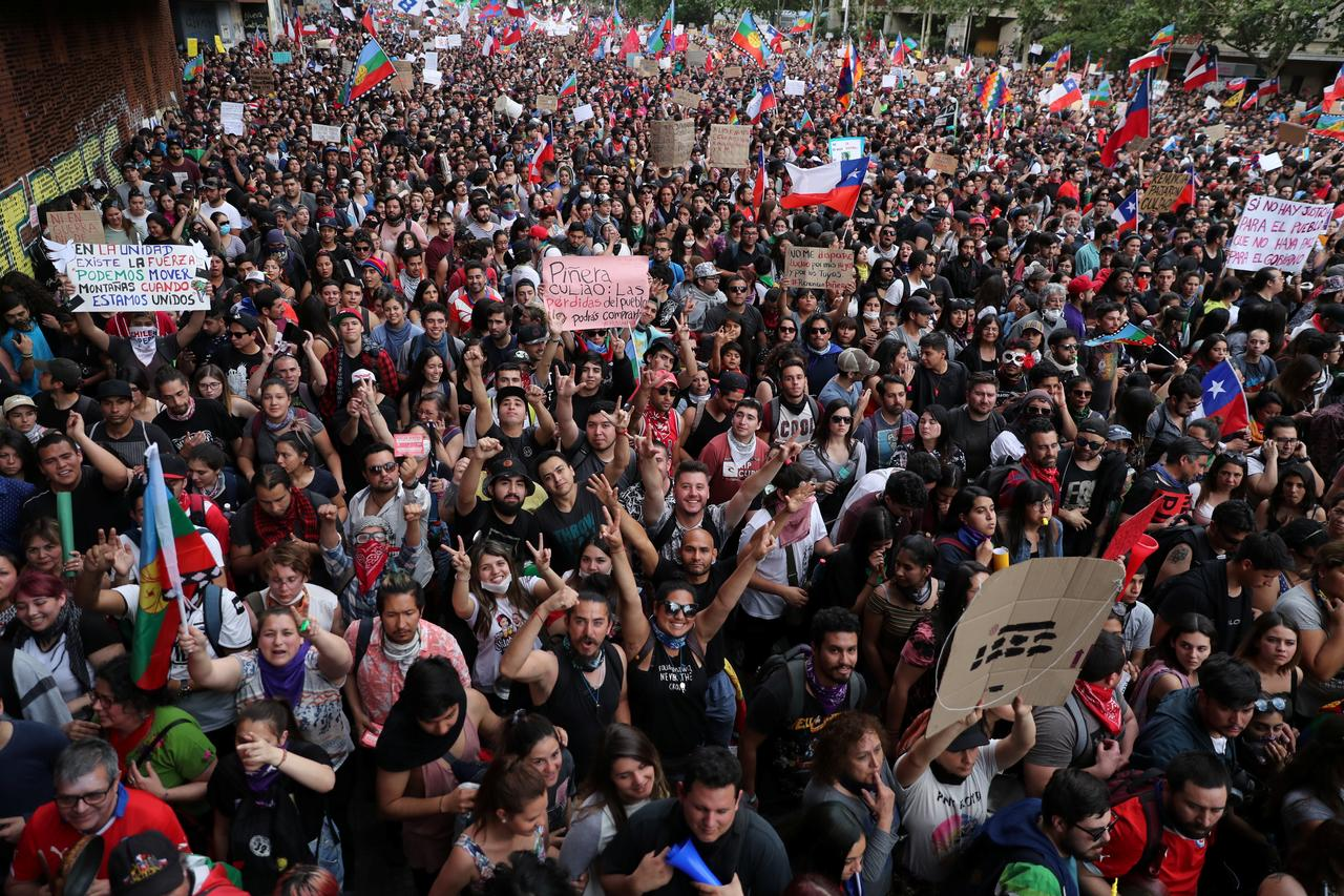 Image result for Chile protest a million""