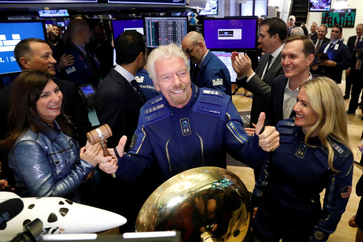 Richard Branson's Virgin Galactic soars before crashing to earth in NYSE debut