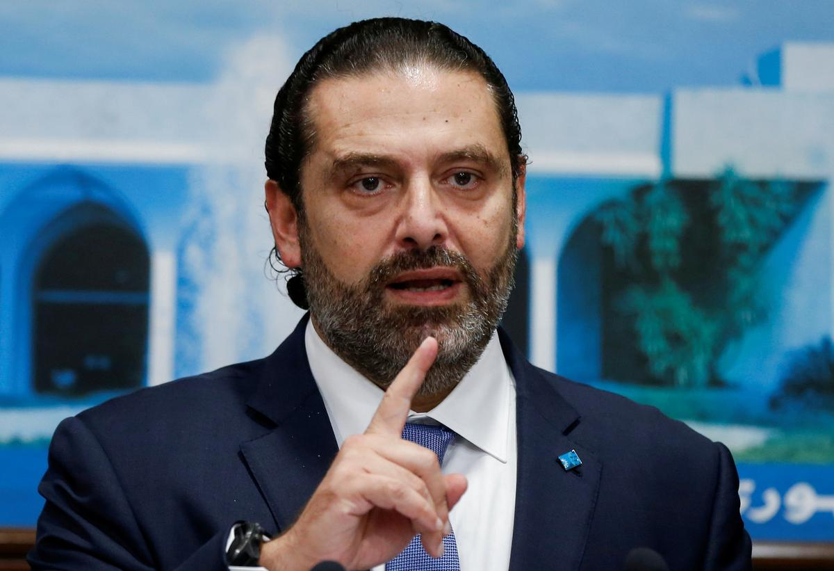 Lebanese PM Hariri to give a speech at 1400 GMT: Twitter