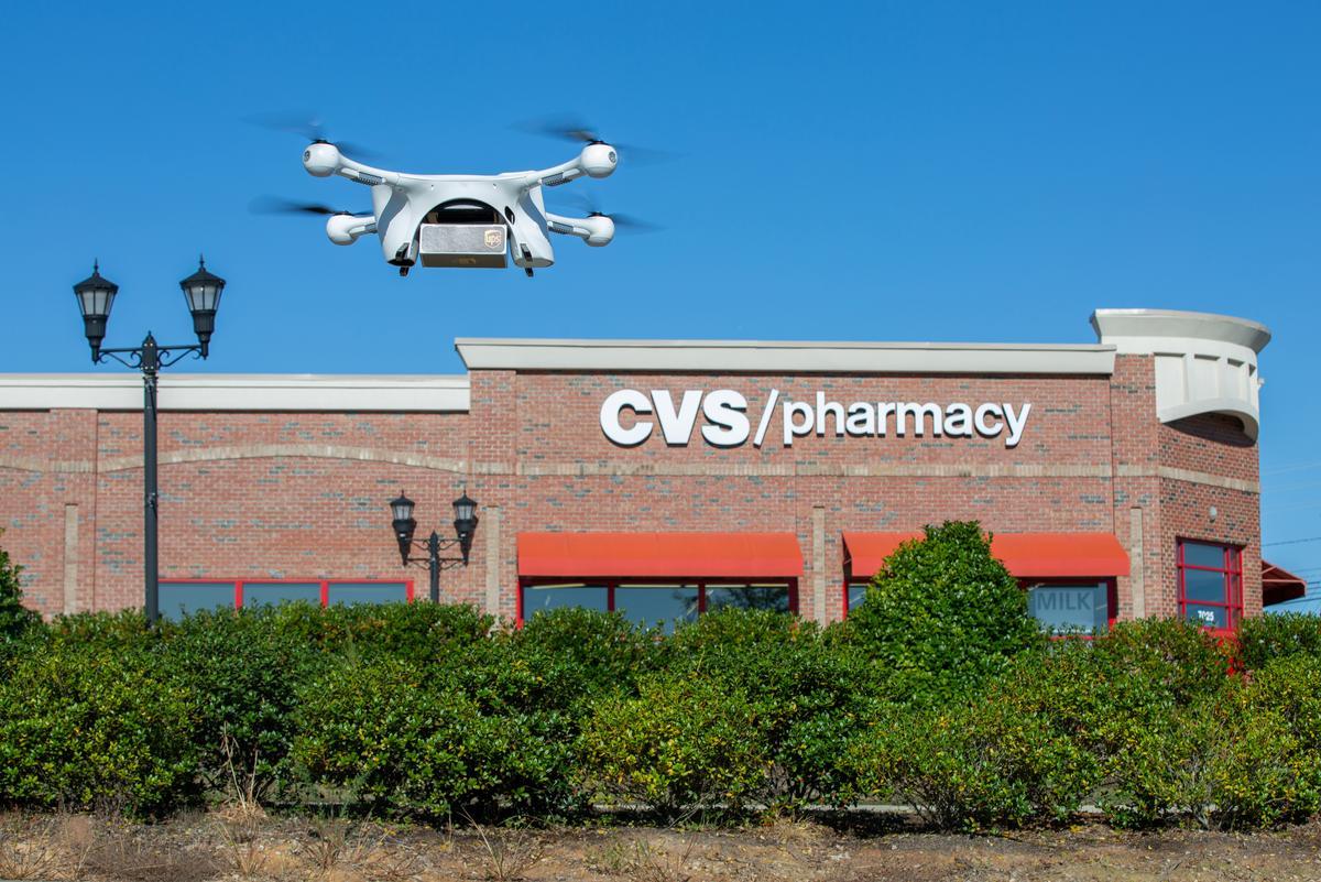 UPS drone makes first home prescription deliveries for CVS