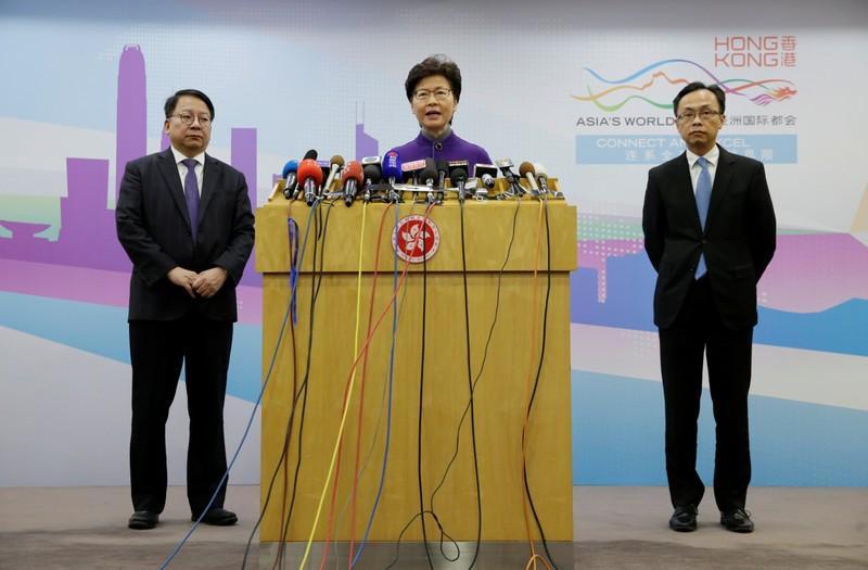 Resultado de imagem para Chefe do Executivo de Hong Kong, Carrie Lam, durante entrevista coletiva em Pequim 06/11/2019 REUTERS/Jason Lee