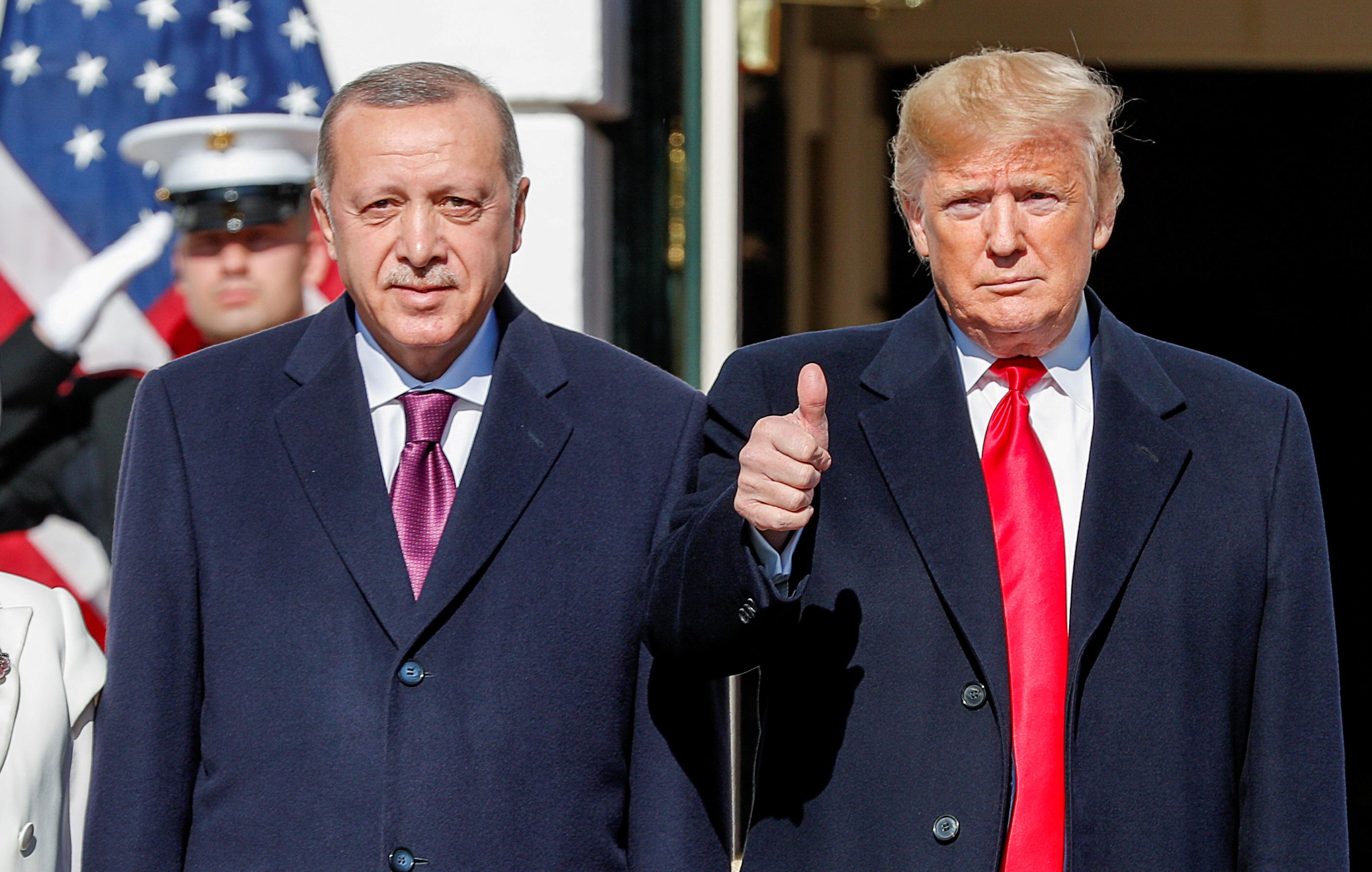 Amid tensions with Turkey, Trump lauds relation with Erdogan