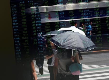 REFILE-GLOBAL MARKETS-Asian stocks retreat as China's growth slowdown deepens