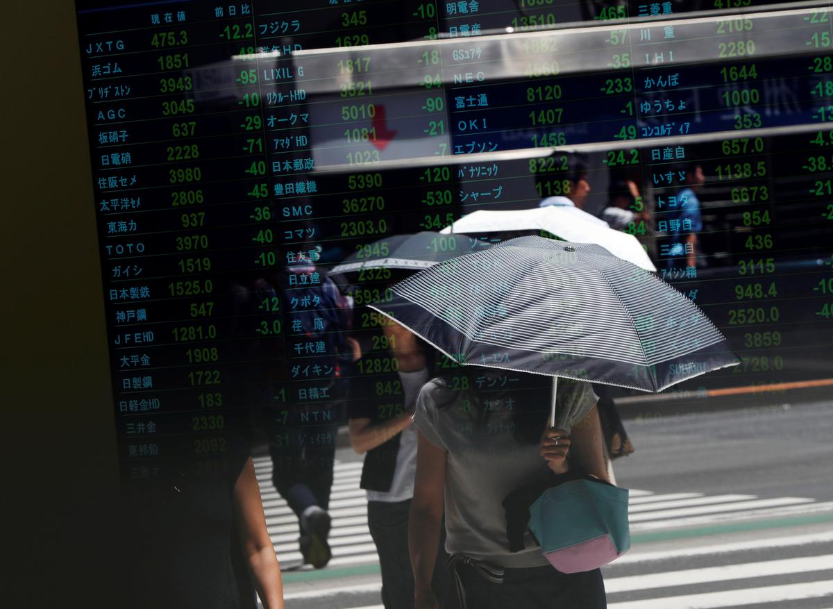 Asian stocks retreat as China's growth slowdown deepens
