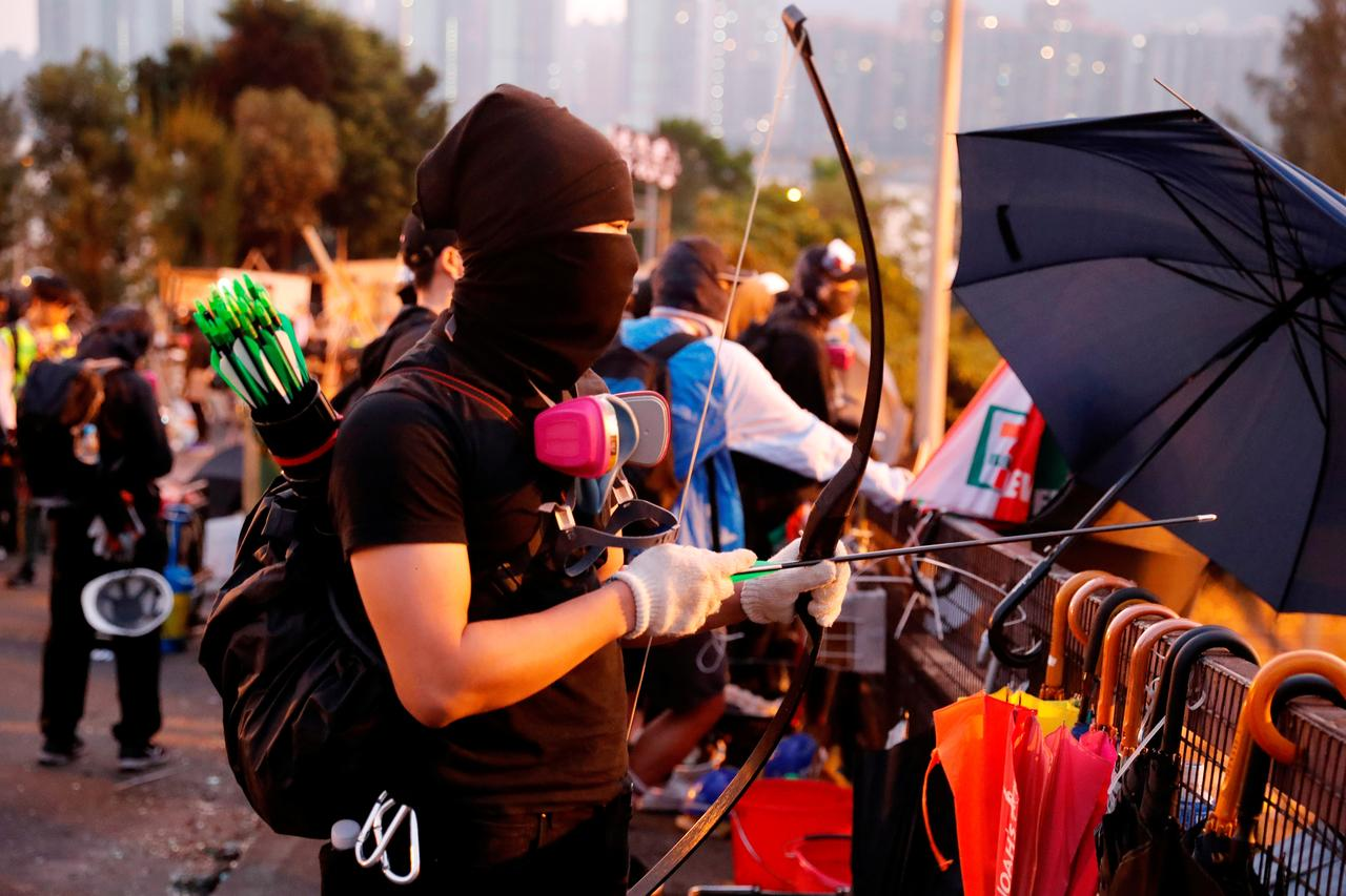 Image result for hong kong protest factory