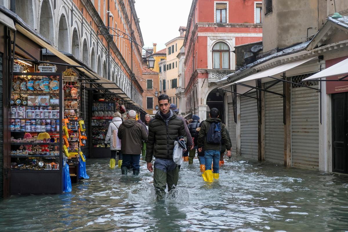 Climate change, human activity rub salt into Venice's wounds