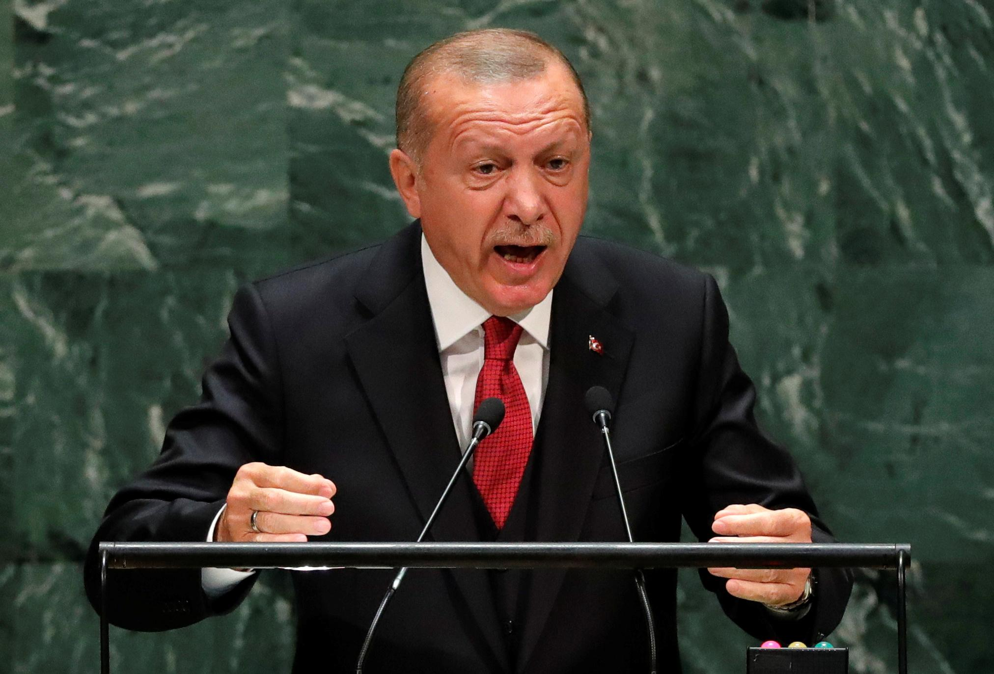 Turkey's Erdogan says interest rates to fall, inflation to hit...