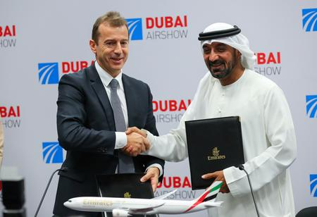 WRAPUP 2-Airbus dominates second day of Dubai show as Boeing wins MAX order