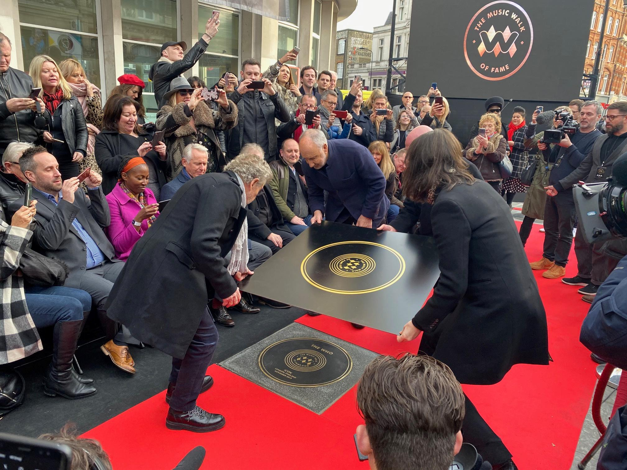 The Who are first honored as London unveils Music Walk of Fame