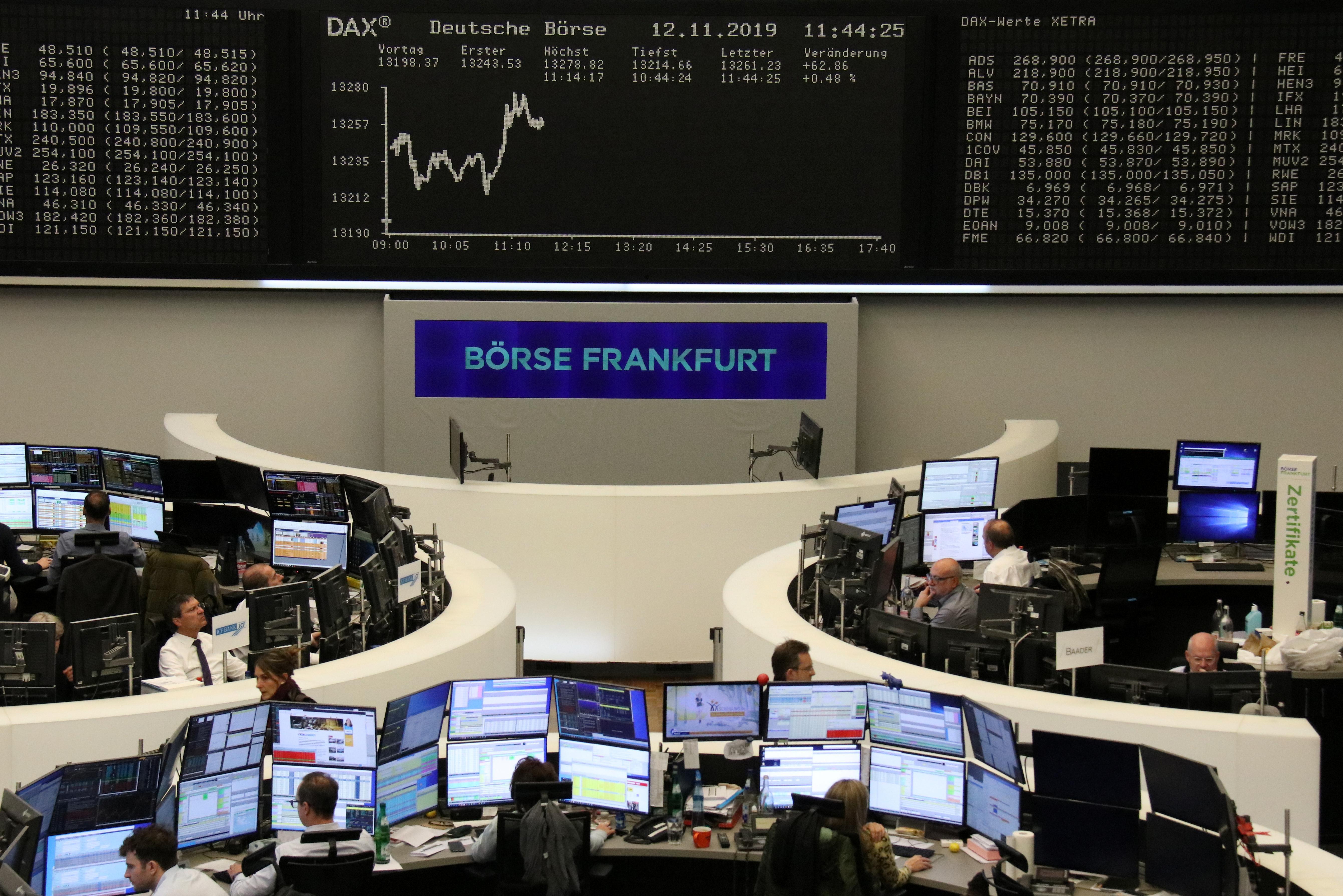 European shares take a breather, ease off four-year peak
