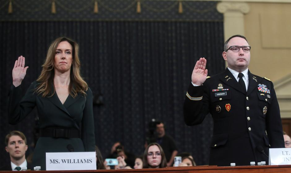 Image result for TRUMP IMPEACHMENT INQUIRY WHITE HOUSE AIDES TESTIFY
