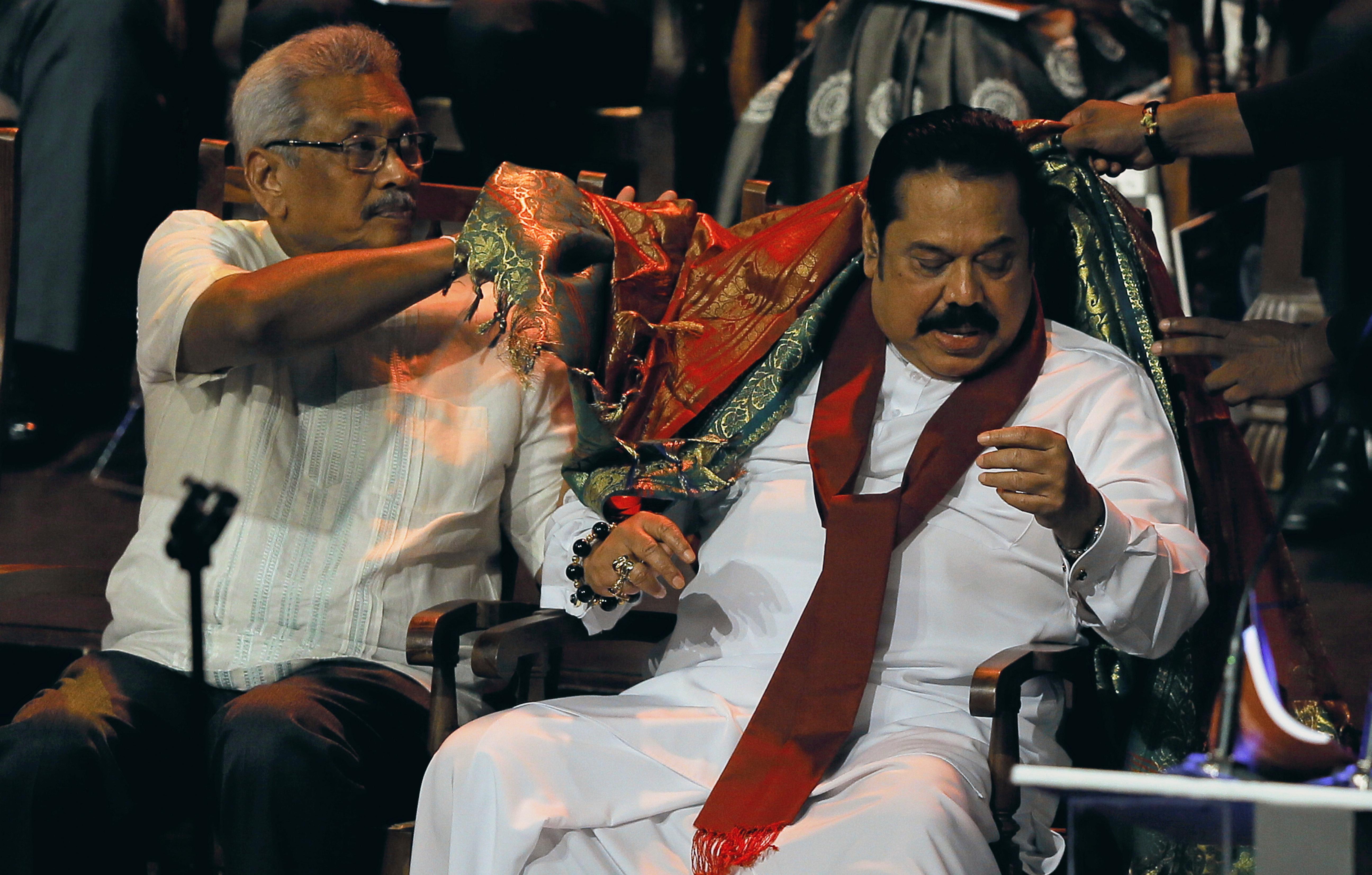 Sri Lanka's Mahinda Rajapaksa to be sworn in as PM by his brother