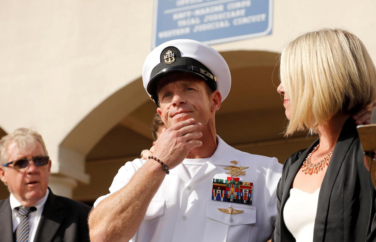 Trump says U.S. Navy will not remove Gallagher's SEALS status