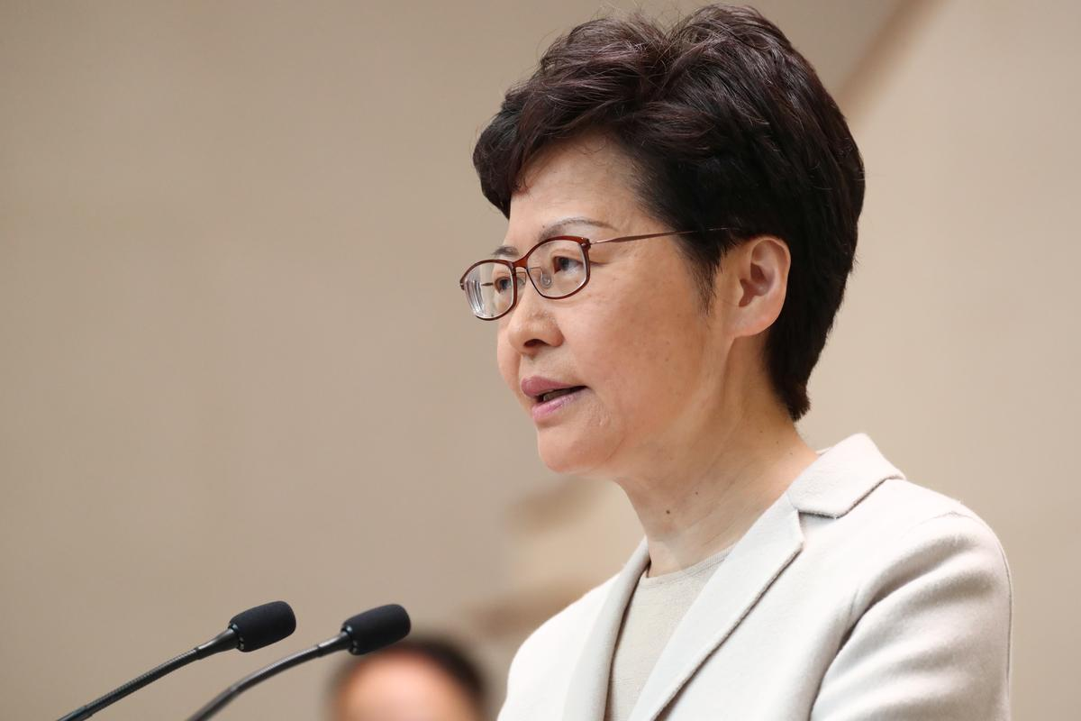 Hong Kong leader says cabinet reshuffle is not her immediate task