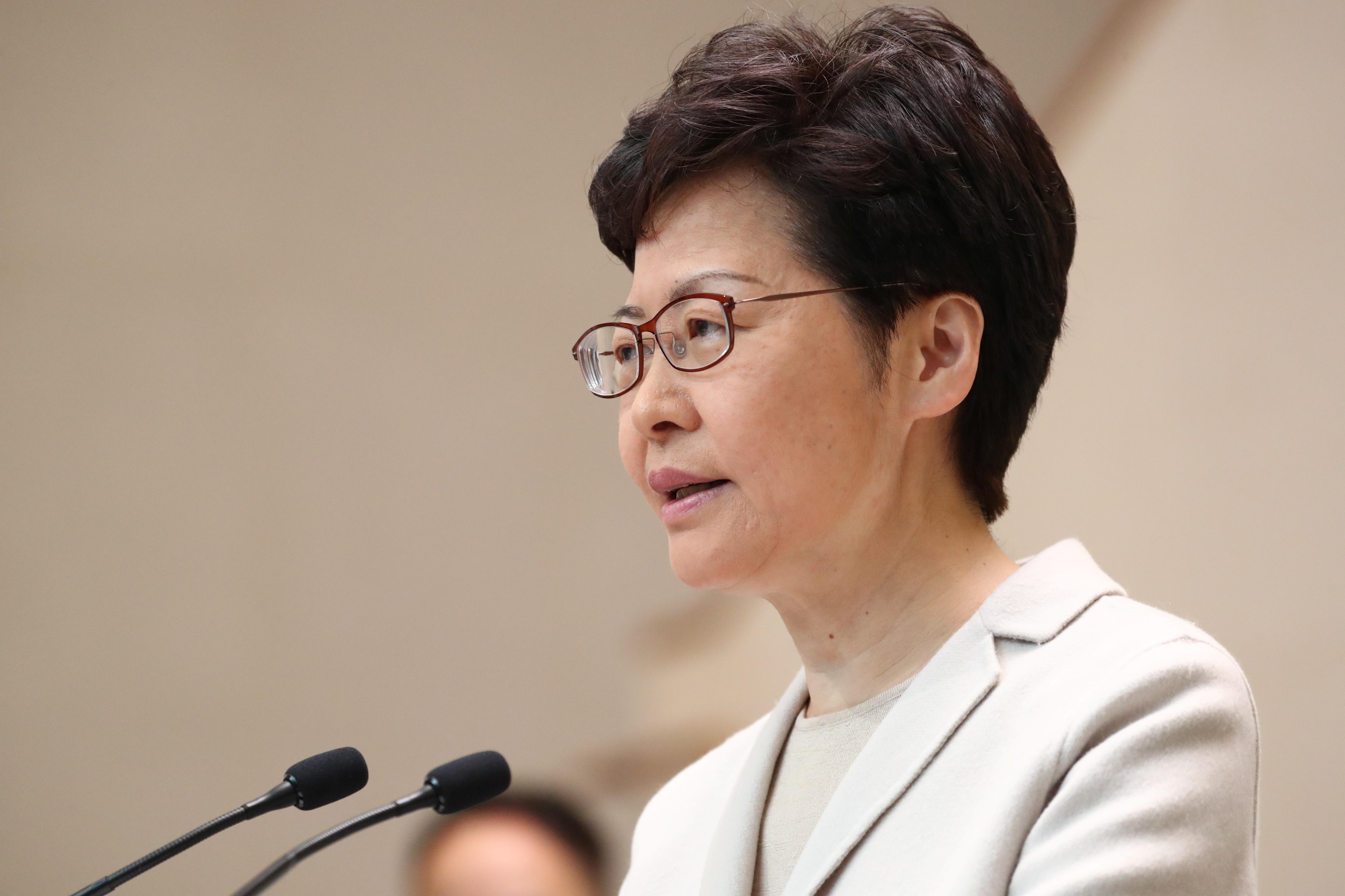 Hong Kong cabinet reshuffle not an 'immediate task', Lam says