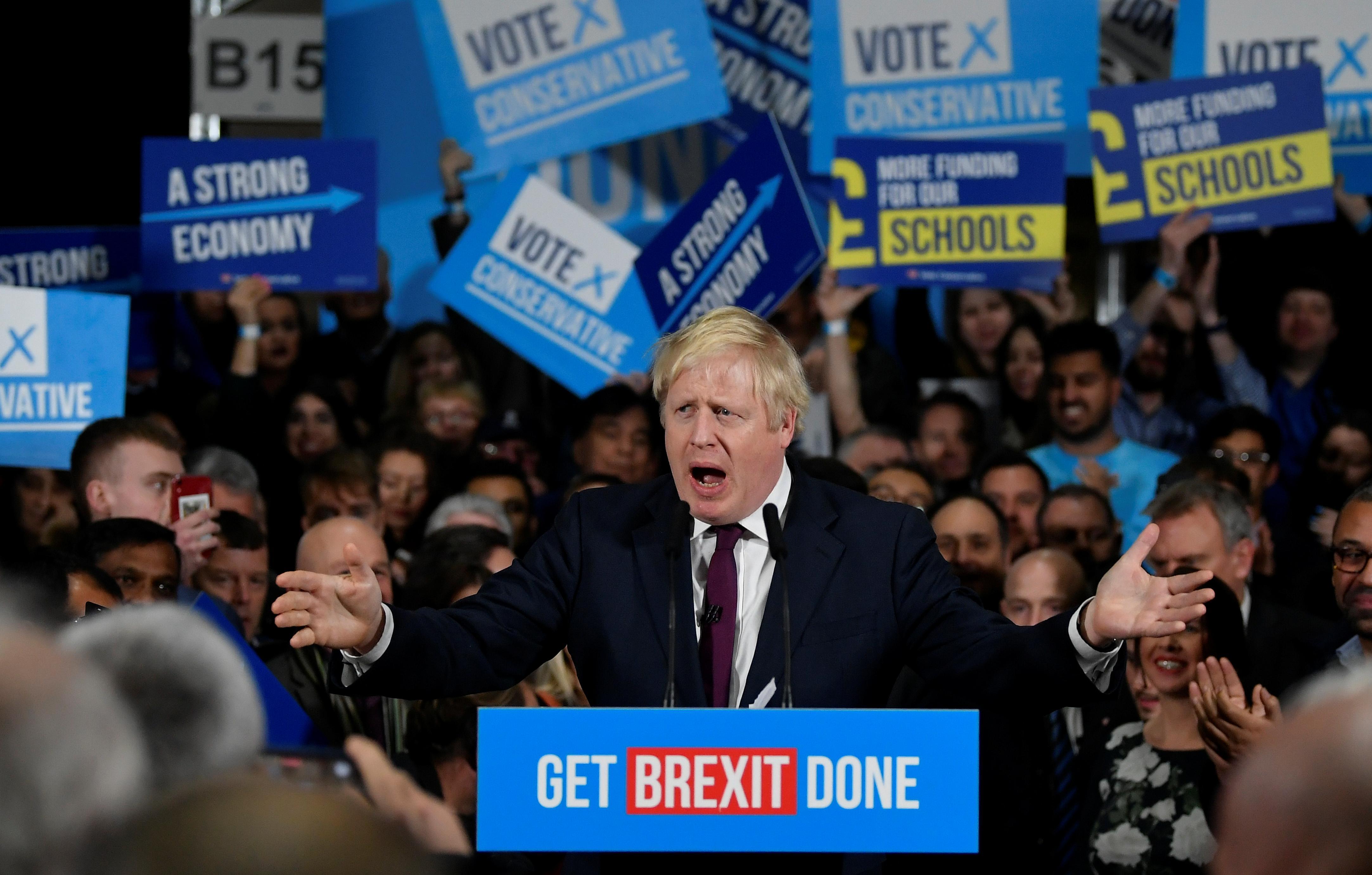 UK's Johnson on track for 24-seat majority: Focaldata