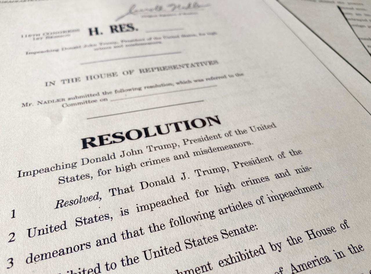 Image result for images of resolution of impeachment against Donald J. Trump