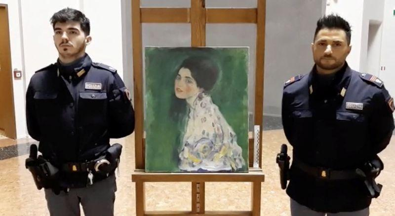 Italian police think stolen Klimt masterpiece found hidden behind ivy