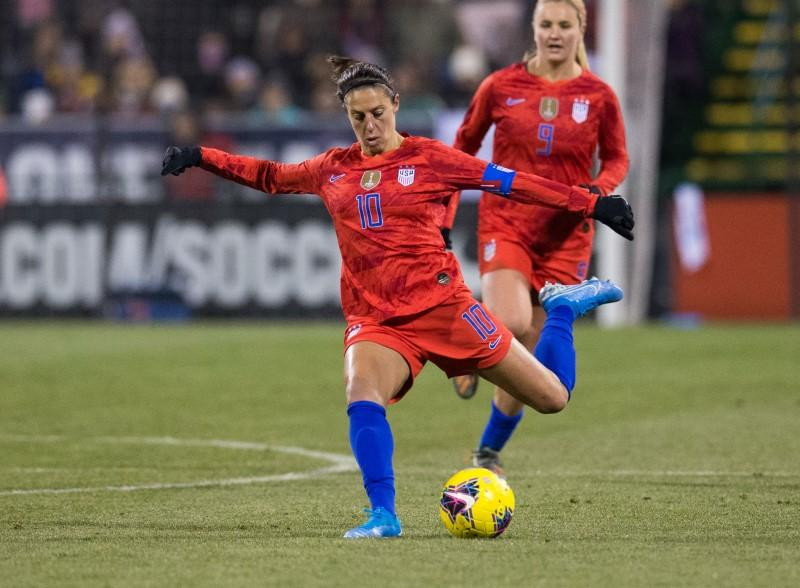 U.S. soccer World Cup champion Lloyd keeps her eye on NFL dream