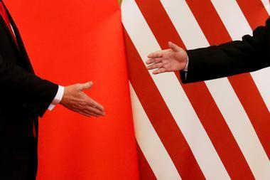 FILE PHOTO: U.S. President Donald Trump and China's President Xi Jinping...