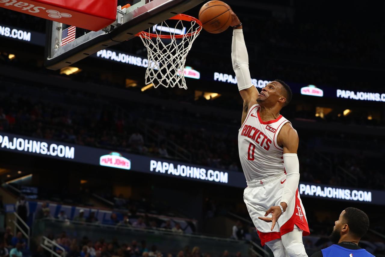 Harden 10顆三分54+7,Westbrook 23分,Aaron Gordon 21,火箭輕取魔术(影)-黑特籃球-NBA新聞影音圖片分享社區