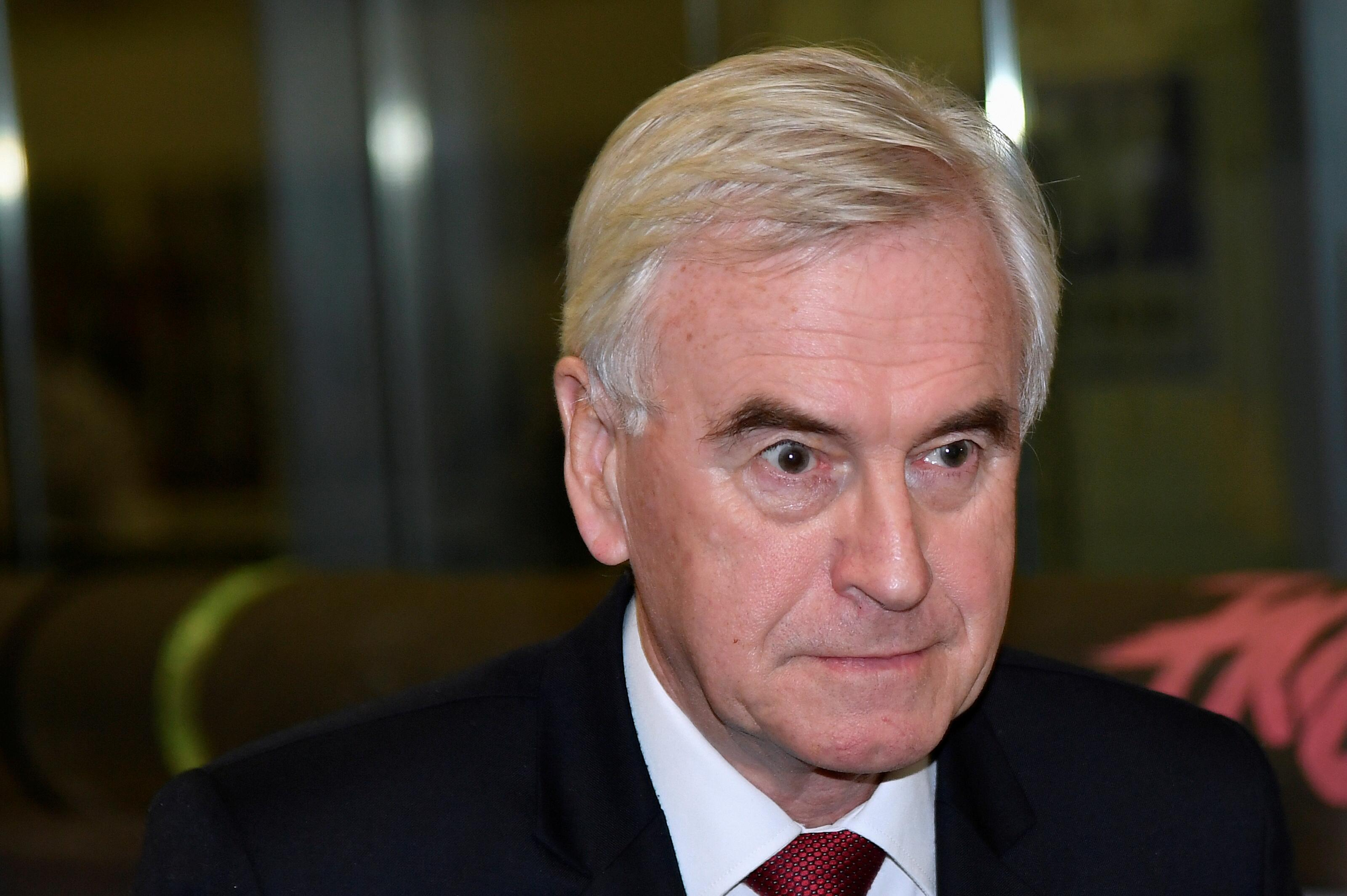 I take the blame, says UK Labour's McDonnell of election 'disaster'